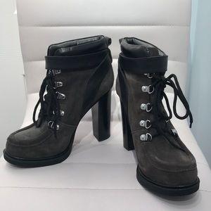 "Nine West Gray Lace Up Bootie, ""Smokino"" Style"